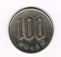 - JAPAN  100 YEN 1967 ( 42 ) - Japon