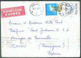 Lettre Affr. N°1876-1986 Obl. Sc WOLUWE 5 En Exprès Le 25-7-1978 Vers Tarragona (Espagne) - 9568 - 1970-1980 Elström