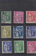 Lot De 9 Paix Différents - 1932-39 Peace