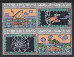 Marshall Islands MNH Scott #34a Block Of 4 Different 20c Inauguration Of Postal Service - Marshall
