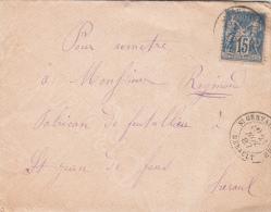 1887, Lettre, 15c Sage, HERAULT St GERVAIS  SUR MARE Pour  St JEAN DE FOS, / 4286 - Marcophilie (Lettres)
