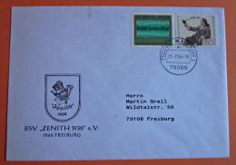 Brief Marken  BRD Deutschland Gerhardt, Paul 1976 MiF - BRD