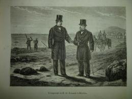 L'empereeur Et M De Bismark A Biarritz, Gravure De Ladmiral , Circa 1850 - Historische Documenten
