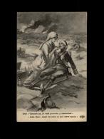 MILITARIA  - CROIX ROUGE - Guerre 14-18 - Carte Illustrée Par ABEILLE - Infirmière - Croix-Rouge