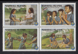 Marshall Islands MNH Scott #C12a Block Of 4 44c Girl Guides - Marshall