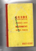 87 - GUIDE DEPARTEMENTAL DES ENTREPRENEURS & ARTISANS DU BATIMENT -TRAVAUX PUBLICS HAUTE VIENNE 1959 A 1963 - Limousin