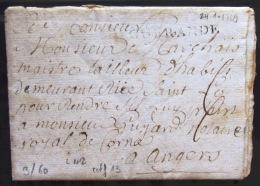MARQUE LINEAIRE De GUERANDE             24/1/1769                Indice  13 - Marcophilie (Lettres)