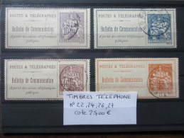 LOT BULLETIN DE COMMUNICATION OBLITERE COTE 25 EUROS  VOIR SCAN - Télégraphes Et Téléphones