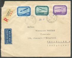 Lettre Recommandée Et Par Avion De SOFIA Le 6-3-1937 Vers Bruxelles (affr. PA à 184 St.).  - 9579 - Poste Aérienne