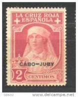 CJ27-LA175TPO. Enferermera.Maroc.Marocco . CABO JUBY.  ESPAÑOL.CRUZ ROJA 1926  (Ed 27**) Sin Charnela.VALOR PRINCIPAL - Profesiones