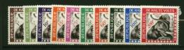 Haute Volta  Elephant Service  N° 1 à 10  Neuf  X  Cote Y & T  17,00 Euro Au Quart De Cote - Unused Stamps