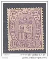 ES155-L3701TESSC. España,Spain,Espagne.IMPUESTOS  DE GUERRA 1875.(Ed 155) Sin Goma.MAGNIFICO - Sellos