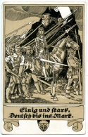 Einig Und Stark, Deutsch Bis Ins Mark, Schulverein,830, Franz Wacik,27.5.1916, Feldpost - Satirische