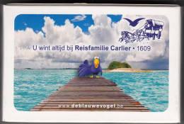 """Sint Truiden Speelkaarten Reisfamilie Carlier """"de Blauwe Vogel"""" - 54 Cartes"""