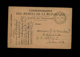 MILITARIA - FRANCHISE MILITAIRE - - Cartes De Franchise Militaire