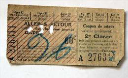 Billet Papier Ligne 82-83-84 Dans  PARIS Coll Schnabel - Tramways