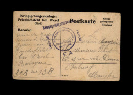 MILITARIA - FRANCHISE MILITAIRE - Carte Allemande - Poststempel (Briefe)