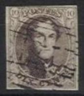 Belgique - N168 - Médaillon N°10A Margé Obl. P125 Fines Barres Vilvorde - Belgique