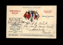 MILITARIA - FRANCHISE MILITAIRE - - Marcophilie (Lettres)