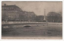 @ CPA INONDATIONS DE PARIS, CRUE DE LA SEINE, LE PONT AU CHANGE, PARIS 75 - Inondations De 1910