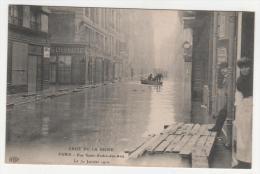 @ CPA INONDATIONS DE PARIS, CRUE DE LA SEINE, RUE SAINT ANDRE DES ARTS, PARIS 75 - Inondations De 1910