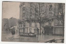 @ CPA INONDATIONS DE PARIS, CRUE DE LA SEINE, AUTEUIL, RUE GROS A LA RUE LAFONTAINE, PARIS 75 - Inondations De 1910