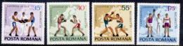 ROMANIA 1969 European Boxing Championships Set MNH / **   Michel 2767-70 - 1948-.... Republics