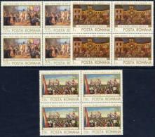 ROMANIA 1968 Anniversary Of Incorporation Of Transylvania In Blocks Of 4  MNH / **   Michel 2721-23 - 1948-.... Republics