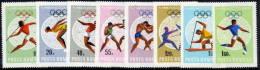 ROMANIA 1968 Mexico Olympic Games Set  MNH / **   Michel 2697-704 - 1948-.... Republics