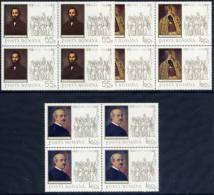 ROMANIA 1968 Revolution Of 1848 In Blocks Of 4 MNH / **   Michel 2694-96 - 1948-.... Republics