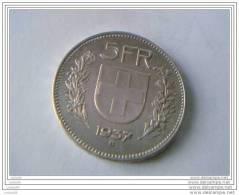 5 Francs 1937 B - SUISSE - Argent - Superbe - - Svizzera