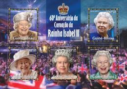 gb13316a Guinea Bissau 2013 Queen Elizabeth II s/s