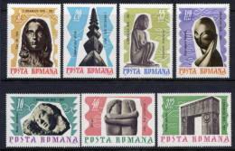 ROMANIA 1967 Brancusi Sculptures Set MNH / **   Michel 2582-88 - 1948-.... Republics
