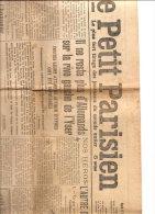 """LE PETIT PARISIEN  """" PLUS D'ALLEMANDS SUR LA RIVE GAUCHE DE L'YSER.."""" Journal Complet 17 Novembre 1914 - Journaux - Quotidiens"""