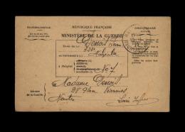 MILITARIA - FRANCHISE MILITAIRE - Bulletin De Santé D'un Militaire - MALZEVILLE - Marcophilie (Lettres)