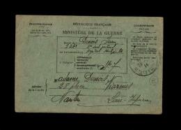MILITARIA - FRANCHISE MILITAIRE - Bulletin De Santé D´un Militaire à MALZEVILLE - CROIX ROUGE - Marcophilie (Lettres)