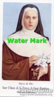 Santino SUOR CHIARA DI S. TERESA DI GESU' BAMBINO (Monaca Clarissa) Con RELIQUIA (tessuto) - OTTIMO G10 - Religion & Esotérisme
