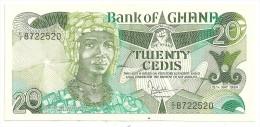 Ghana 20 Cedis 1984 XF/AUNC Central Fold - Ghana