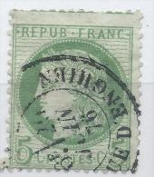 Lot N°23452   Variété/n°53, Oblit  Cachet à Date De PARIS ( Rue D'Enghien ), Fond Ligné - 1871-1875 Cérès