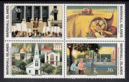 Marshall Islands MNH Scott #274a Block Of 4 30c Roosevelt's Four Freedoms Speech - World War II - Marshall