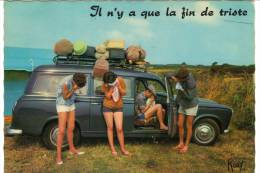 EN VACANCES - (Voiture Des Années 1950.60) - Humor