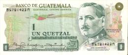 BILLETE DE GUATEMALA DE 1 QUETZAL DEL AÑO 1978  (BANKNOTE) RARO - Guatemala