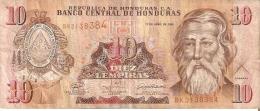 BILLETE DE HONDURAS DE 10 LEMPIRAS AÑO 2008 (BANKNOTE) - Honduras