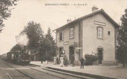 MONTCEAUX. VINDECY  La Gare Avec Train  Belle Animation - Unclassified