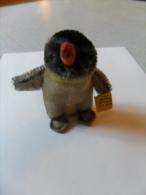 ANCIEN PETIT  PINGOUIN   / STEIFF AVEC ETIQUETTE  PAS DE  BOUTON/ DANS SON JUS  - ANNEES  50 / HT 9 CM - Steiff