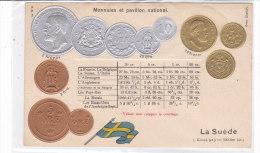CARD MONETE SVEZIA  IN RILIEVO BANDIERA     -FP-N-2-0882-19188 - Monnaies (représentations)