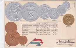 CARD MONETE  INDIE OLANDESI IN RILIEVO BANDIERA     -FP-N-2-0882-19191 - Coins (pictures)