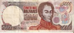 BILLETE DE VENEZUELA DE 5000 BOLIVARES DEL AÑO 1998 (BANKNOTE) - Venezuela