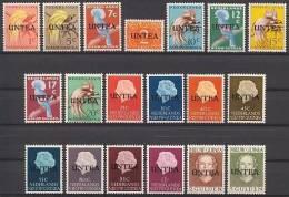 West Nieuw Guinea NVPH Nr 1/19 Ongebruikt/MLH Untea, United Nations, UN, VN - Netherlands New Guinea