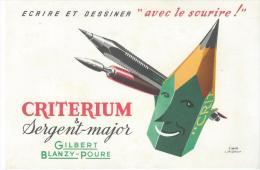 CRITERIUM/ Sergent-Major/ Gilbert- Blanzy-Poure/ Jacquelin / / Vers 1945-1955        BUV73 - Stationeries (flat Articles)